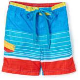 Kanu Surf Aqua Viper Stripe Swim Trunks - Boys