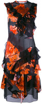 Givenchy ruffle trim printed dress - women - Silk - 38