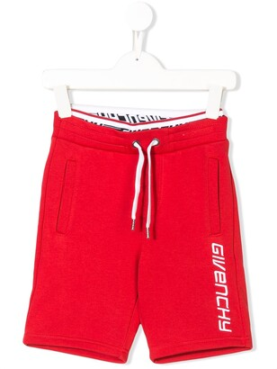 Givenchy Kids Logo Embroidered Track Shorts