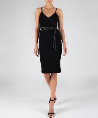 Atm Modal Rib Wrap Dress - Black