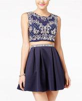 Crystal Doll Juniors' 2-Pc. Embellished A-Line Dress