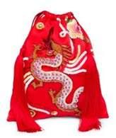 ATTICO Envers Dragon Satin Pouch