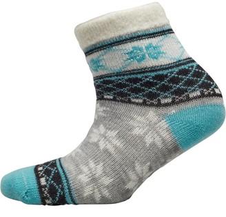 Yax Trax Unisex Junior Aloe Socks Snowflake Argyle Blue