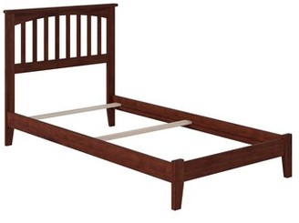 Three Posts Baby & Kids Caulksville Panel Bed Bed Frame Color: Walnut, Size: Twin