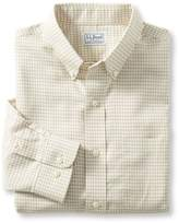 L.L. Bean Wrinkle-Free Mini-Check Shirt, Slightly Fitted