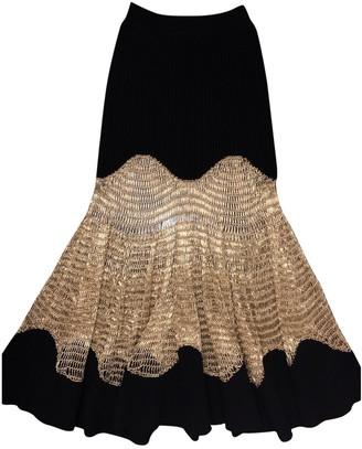 Alexander McQueen Black Wool Skirt for Women