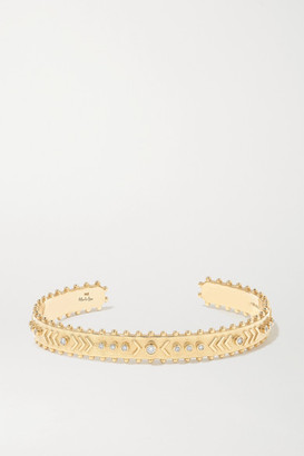 Marlo Laz Arrow Rawa 14-karat Gold Diamond Cuff