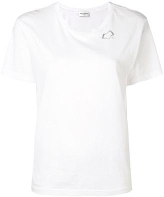 Saint Laurent SL heart print T-shirt