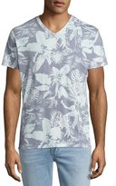 Sol Angeles Mystique Tropical-Print V-Neck T-Shirt, Light Blue