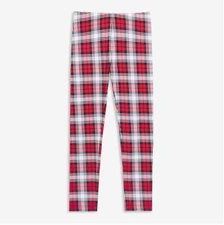 Joe Fresh Kid Girls' Plaid Legging, Red (Size M)