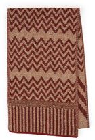 Topman Premium Red And Brown Zig Zag Scarf