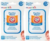 Munchkin Arm & Hammer Pacifier Wipes - White - 36 - 2 pk