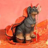 Conversation Concepts Doberman Pinscher Little Devil Dog Figurine - Uncropped Ears - R