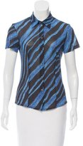 Kenzo Abstract Print Short Sleeve Button-Up