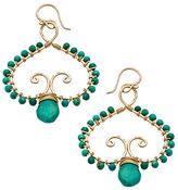 Calico Juno Turquoise Open Heart Drop Earrings