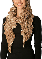 Pure Style Girlfriends Taupe Velvet Scrunch Scarf