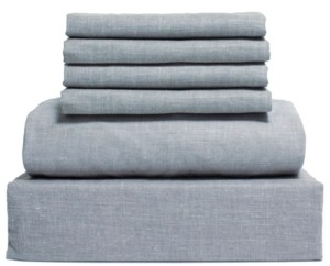 Lintex Chambray 6-Piece Sheet Set, Size- King Bedding