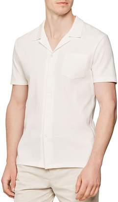 Reiss Reeves Ribbed Regular Fit Button-Down Shirt
