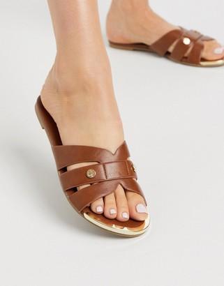 Miss KG dallas slip on sandals in tan