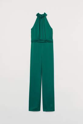 H&M Satin Jumpsuit - Green