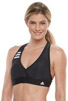 adidas Women's Light as Heather Surplice Bikini Top