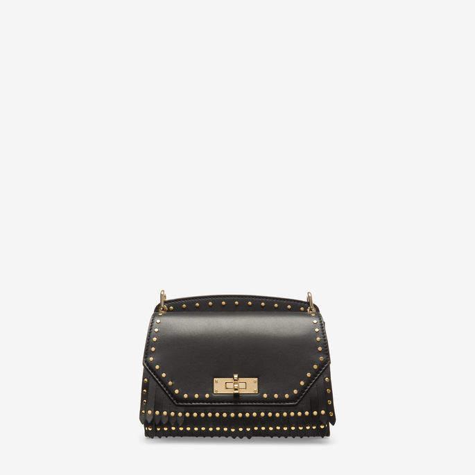 Bally Suzy Small Black, Women's small plain calf leather shoulder bag in black