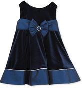 Rare Editions Baby Girls' Navy Velvet Party Dress