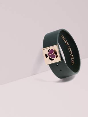 Kate Spade Unlock Your Heart Leather Turnlock Bracelet