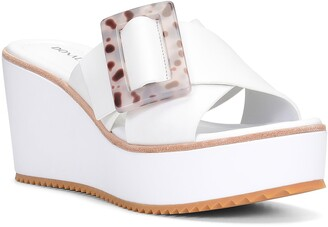 Donald J Pliner Illiad Platform Wedge Slide Sandal