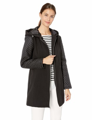 Jones New York Women's Softshell Jacket with Quilted Sleeves