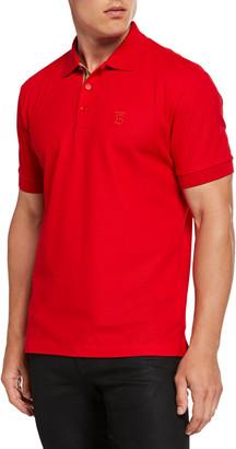 Burberry Men's Eddie Pique Polo Shirt, Bright Red