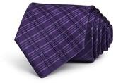 John Varvatos Striped Check Classic Tie