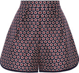 Mother of Pearl Addison printed silk and cotton-blend shorts