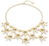 Trina Turk Goldtone Dome Button and Crystal Teardrop Bib Necklace