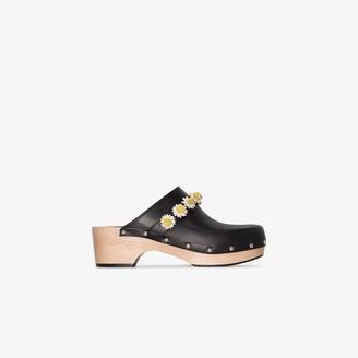 Fabrizio Viti black Jean daisy 50 leather clogs