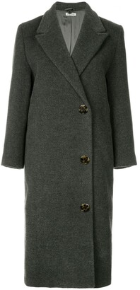 Miu Miu Pre-Owned Double Breasted Midi Coat