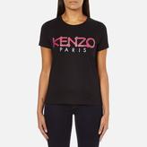Kenzo Women's Paris Rope Logo TShirt - Black