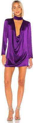Michael Lo Sordo Bias Cowl Neck Mini Dress