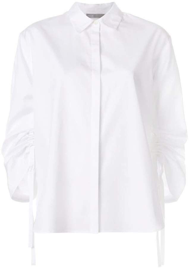 Vince cinched sleeve shirt