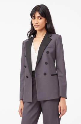 Rebecca Taylor Tailored Gabardine Suiting Blazer