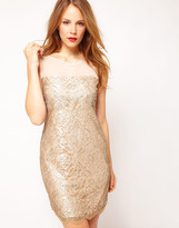 Duanna Lace Dress in Gold