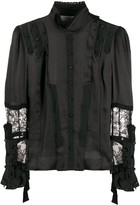 A.F.Vandevorst lace-detail fitted blouse