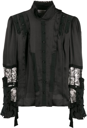 A.F.Vandevorst Lace-Detail Fitted Blouse
