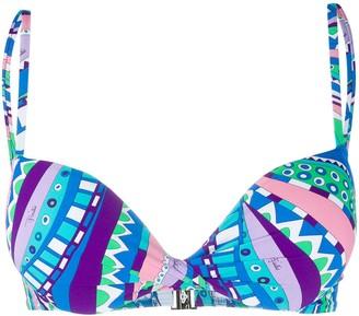 Emilio Pucci Abstract Print Bikini Top