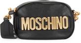 Moschino Logo Leather Convertible Bag
