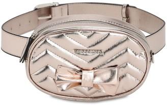 MonnaLisa Faux Leather Belt Bag W/ Bow
