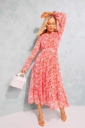 Banjanan Poppy Red Anna's Wild Garden Ester Dress