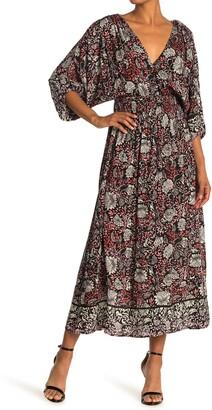 Love Stitch Floral Midi Dress