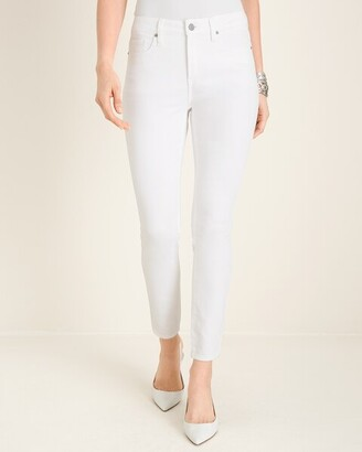 Chico's No-Stain White High-Rise Skinny Ankle Jeans