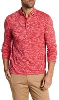 Michael Bastian Long Sleeve Slub Printed Polo